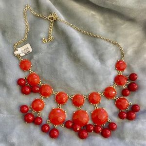 NWT Orange/Red bubble necklace
